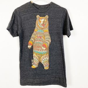 Riot Society Southwest Bear Graphic Gray Tee S A